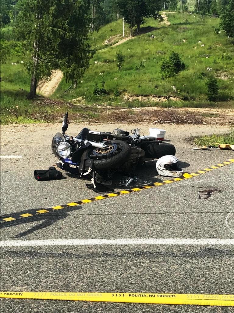 ACUM: Motociclist rănit într-un accident la ieșirea din Focșa