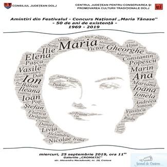 Amintiri din Festivalul – Concurs National Maria Tanase – 50