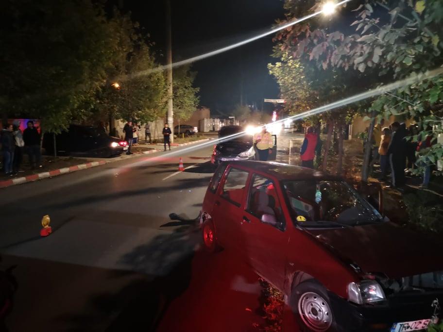 Accident, în Alexandria, provocat de o ?oferi?? f?r? experien??.