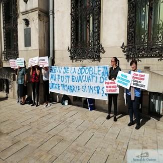 Protestul cadrelor didactice din Colegiul Stefan Odobleja continu