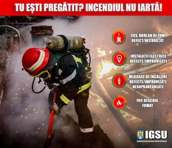 Recomandările pompierilor pentru a preveni un incendiu