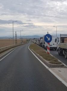 Trafic îngreunat spre Sebeș după închiderea autostrăzii A1