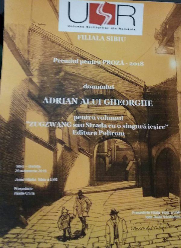 Adrian Alui Gheorghe – premiat la Sibiu pentru cartea despre criticul răpit