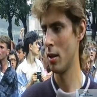 Filmare cu Marian Morosanu, in 1990, inainte de a fi batut de min