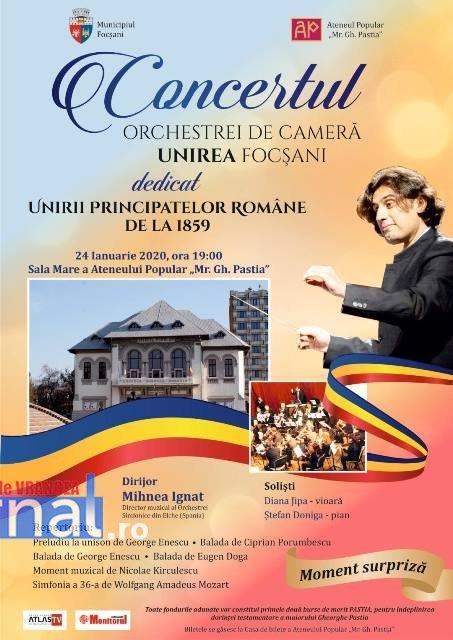 Concert de Ziua Unirii la Ateneul din Focșani