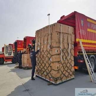 Al doilea transport aerian cu echipamente medicale din Coreea de