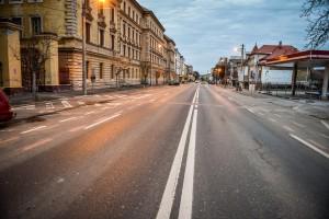 Foto și video. Sibiul, în prima zi de circulație interzisă. �