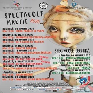 Un nou week-end de poveste la Teatrul Colibri Craiova