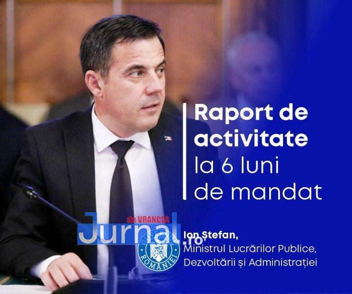Cum arată raportul de activitate al ministrului Ion Ștefan, la 6 luni după ce a preluat Ministerul Lucrărilor Publice, Dezvoltării și Administrației