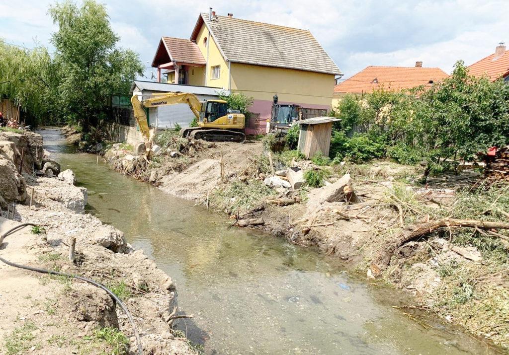 Verificări pe Valea Aiudului. Ce trebuie făcut pentru evitarea altor inundații
