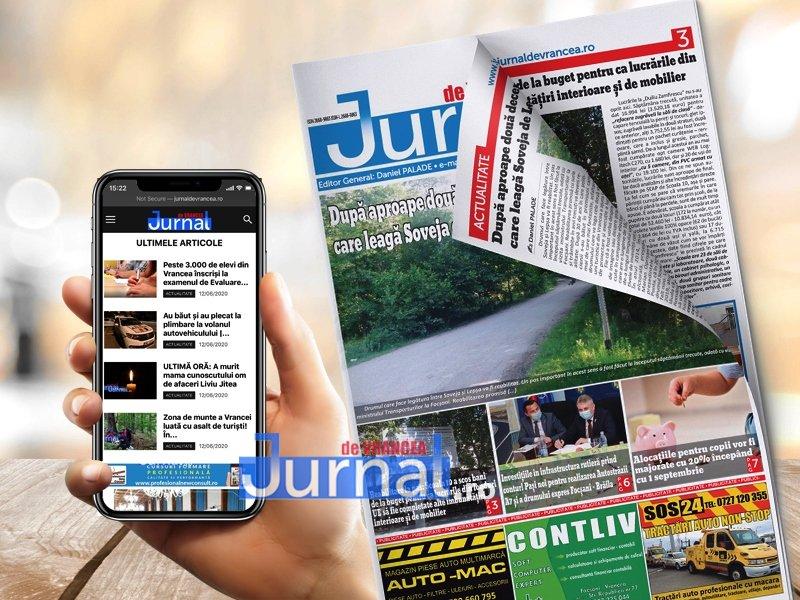CITEȘTE ONLINE ediția 10 a săptămânalului print Jurnal de Vrancea