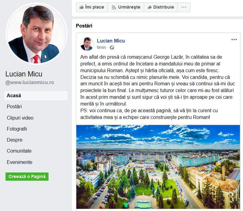 """Lucian Micu ripostează: """"Voi candida!"""""""