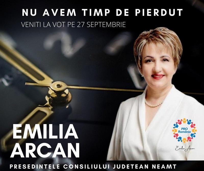 Emilia Arcan: Nu avem timp de pierdut.