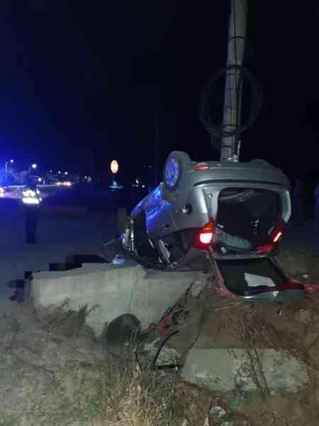 FOTO: Grav accident rutier în Ilva Mică, soldat cu decesul unui tânăr și rănirea gravă a altuia