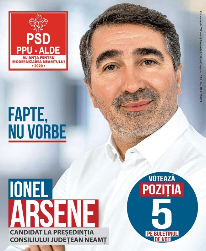"""Ionel Arsene: """"Vreau ca Neamțul să conteze pe harta țării și a lumii"""""""