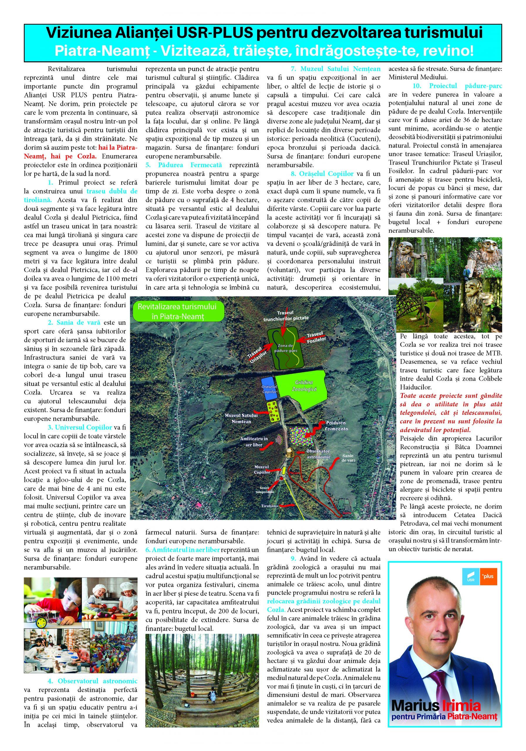 Viziunea Alianţei USR-PLUS pentru dezvoltarea turismului
