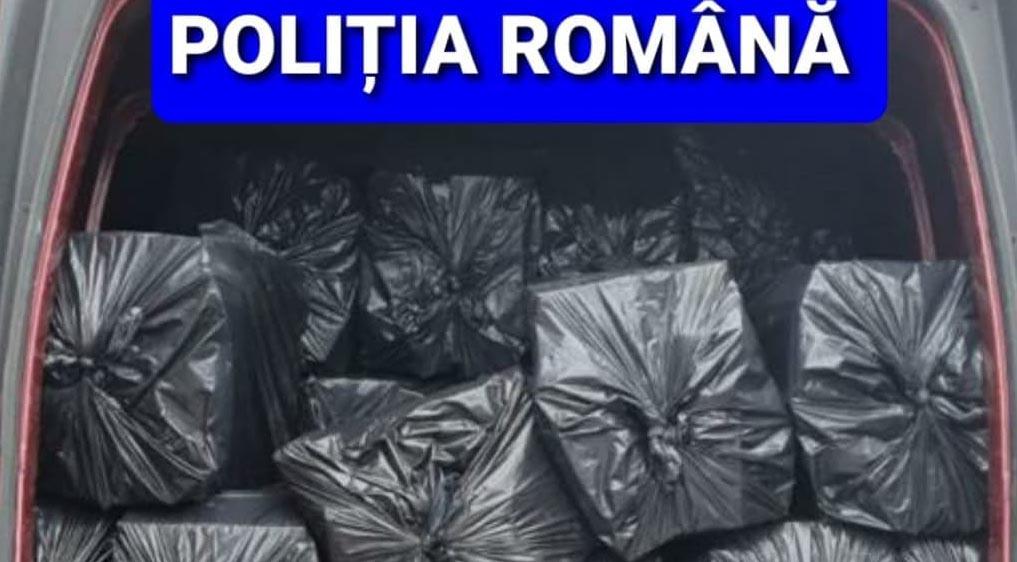 Peste 800.000 de ţigări de contrabandă, descoperite în urma u
