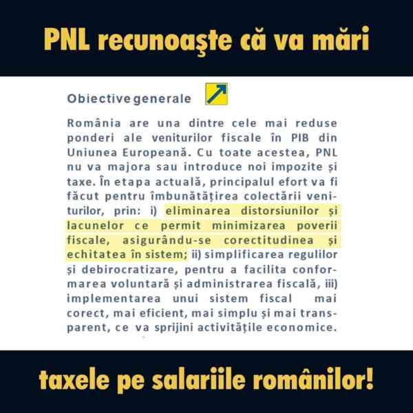 """PSD BN: """"PNL confirmă în propriul program de guvernare că va"""