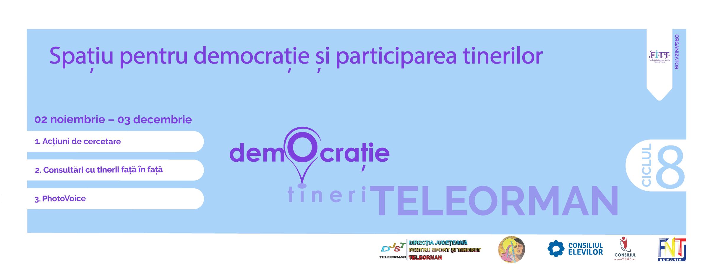 """""""Spațiu pentru democrație și participarea tinerilor"""", proi"""