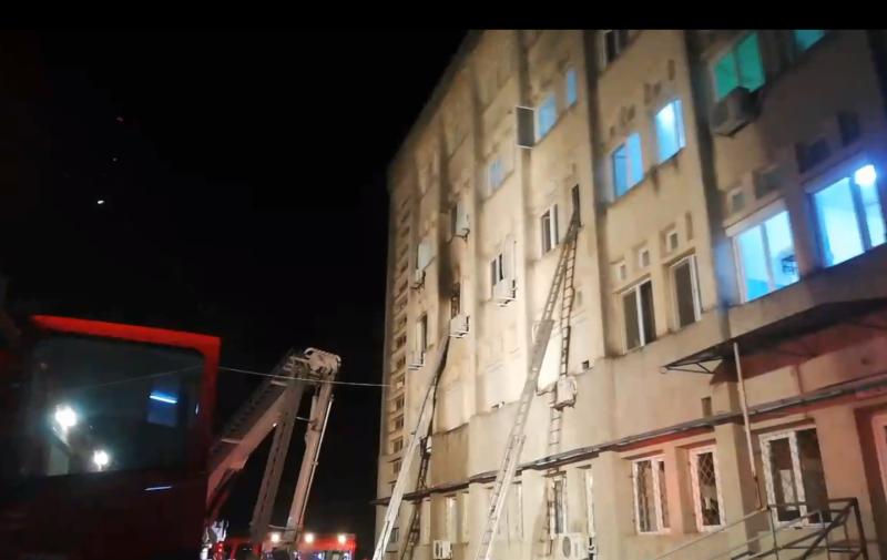 Secția ATI distrusă de incendiu, desigilată pentru poze și î