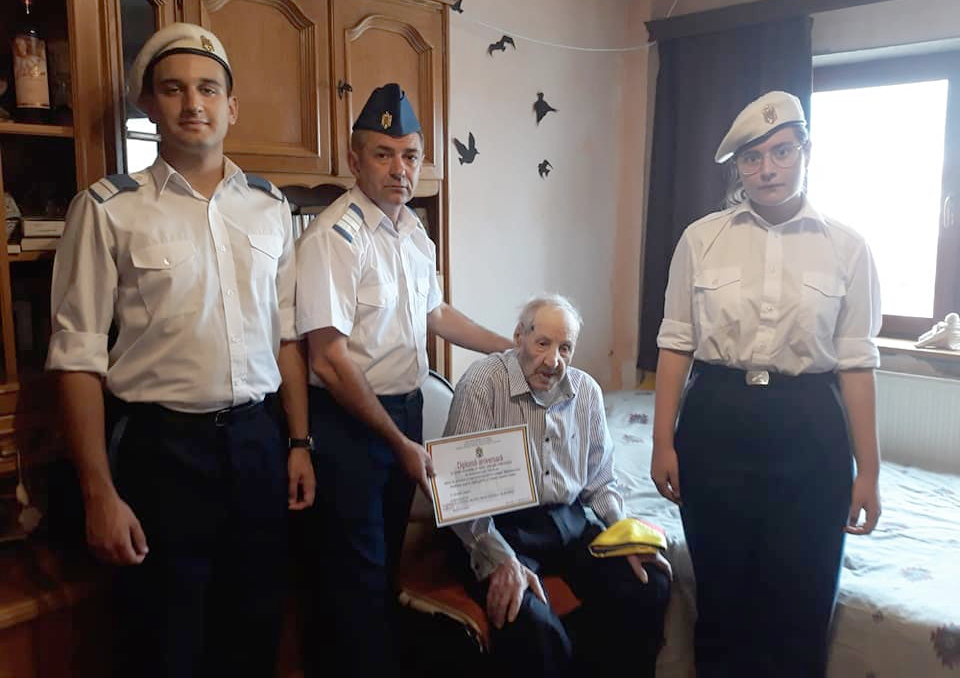 """Veteran de război în vârstă de 101 ani, """"oștean al Raiului"""