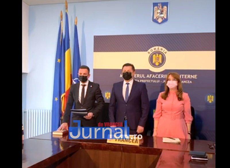 VIDEO: Prefectul și subprefecții de Vrancea au depus jurământ
