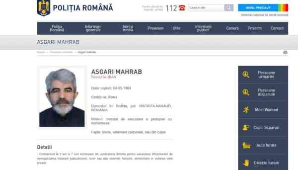 Dat în urmărire de autoritățile române! Iranian condamnat la