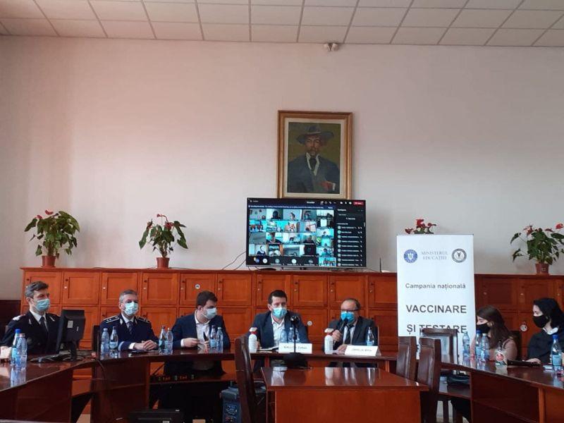 """Lansarea în județul Neamț a campaniei """"Vaccinare și testare"""