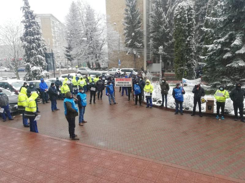 Live: Protest al sindicatului EPCAN de la Apa Serv