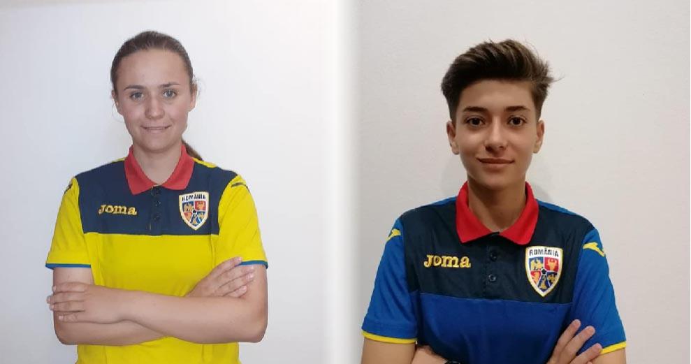 Mădălina Zanfir şi Elena Frîncu, junioare la clubul de fotbal