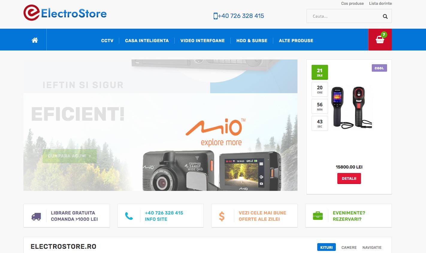 Electrostore.ro - Un nou site de produse electronice, electrice si electrocasnice