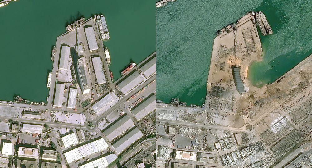 Beirut văzut din satelit: până și după explozie - Foto